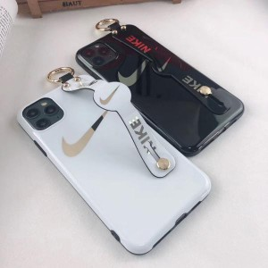 ペア ナイキ iPhone11/11Proケース バントベルト付き ブラント NIKE アイフォン SE/11 pro max背面ケース