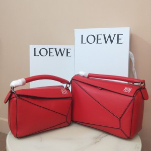Loewe Puzzle Bag Classic Calf In Red Outlet Loewe Cheap Sale Store