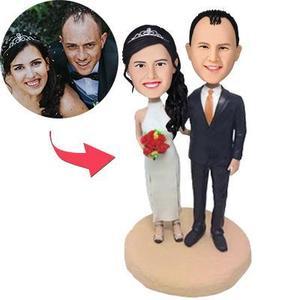 Personalized Custom Bobblehead Wedding Cake Topper – MyCustomBobbleheadsUK