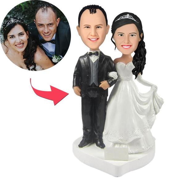Personalized Custom Bobblehead Wedding Cake Topper – MyCustomBobbleheadsUK