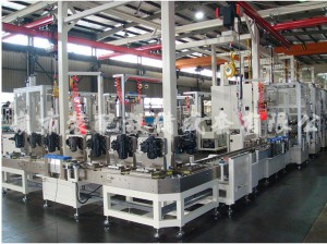 Assembly Line is consists of one automatic conveyor system and some online special machines. Aut ...