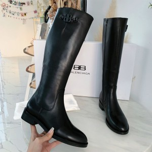 Balenciaga Calfskin Boots In Black Outlet Balenciaga Cheap Sale Store