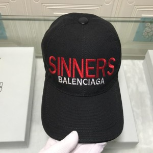 Balenciaga Logo Embroidered Cap In Black Outlet Balenciaga Cheap Sale Store