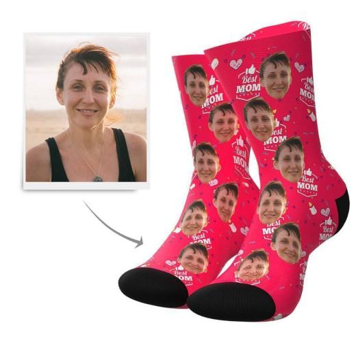 Best Mom Custom Face Socks | Get Photo Blanket