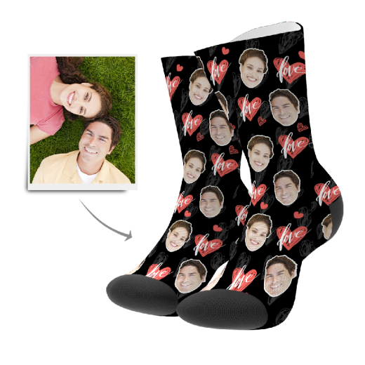 Custom Heartbeat Socks | Get Photo Blanket