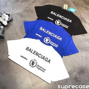 BALENCIAGA Tシャツ プリント 男女兼用 バレンシアガ ペアルック ティーシャツ 半袖 コットン http://s ...