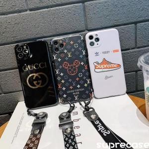 グッチ ルイヴィトン iPhone12/11ケース シュプリーム iPhone11pro/11pro maxケース ストラップ付き ht ...
