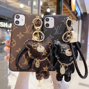 ルイヴィトン iPhone 11/11proケース 可愛い クマ付き レディース ヴィトン iPhone11Pro Maxカバー