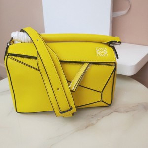 Loewe Puzzle Bag Classic Calf In Yellow Outlet Loewe Cheap Sale Store