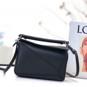 Loewe Puzzle Mini Bag Classic Calf In Black Outlet Loewe Cheap Sale Store
