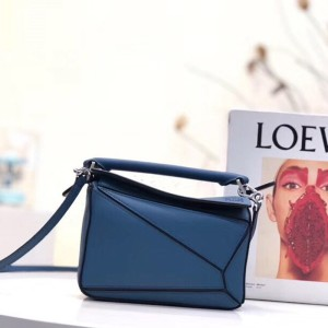 Loewe Puzzle Mini Bag Classic Calf In Blue Outlet Loewe Cheap Sale Store
