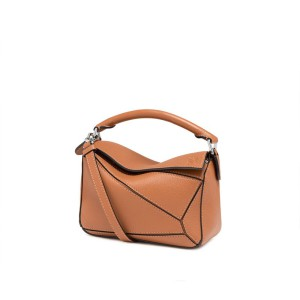 Loewe Puzzle Mini Bag Classic Calf In Brown Outlet Loewe Cheap Sale Store