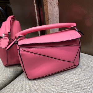 Loewe Puzzle Mini Bag Classic Calf In Pink Outlet Loewe Cheap Sale Store