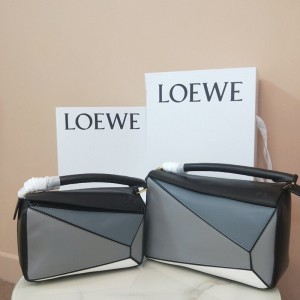 Loewe Puzzle Patchwork Bag Calfskin Black Outlet Loewe Cheap Sale Store