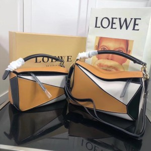 Loewe Puzzle Patchwork Bag Calfskin Brown Outlet Loewe Cheap Sale Store