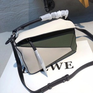 Loewe Puzzle Patchwork Bag Calfskin Green Outlet Loewe Cheap Sale Store