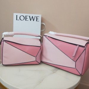 Loewe Puzzle Patchwork Bag Calfskin Pink Outlet Loewe Cheap Sale Store