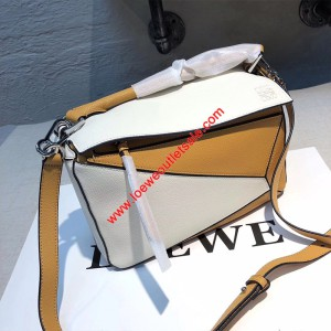 Loewe Puzzle Patchwork Bag Calfskin White Outlet Loewe Cheap Sale Store