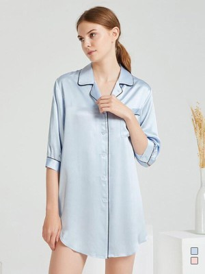 19 Momme Luxury Sexy Long Sleeve Silk Nightgown | Multi-Colors Selected