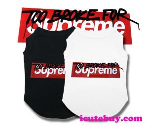 ドッグウェア シュプリーム タンクトップ TOO BROKE FOR Supreme Tee 犬服 Tシャツ 新品発売