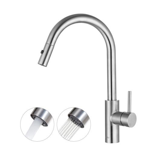 Wenn an der Wasserhahnbasis Ihres küchen Wasserhahn ein Hebel an der Seite des Wasserhahns oder  ...