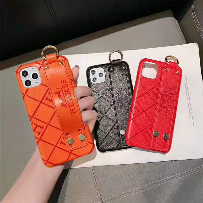 hermes エルメス iphone12/12 pro maxケースブランド iphone 11/xr/xs maxケース ハンドベルト付き オ ...