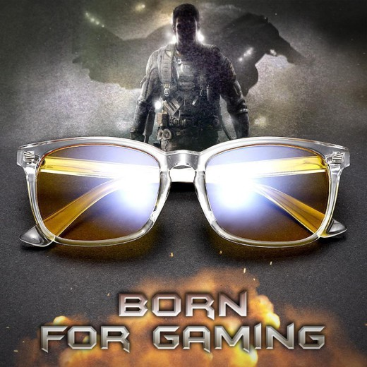 Gaming Glasses – Blue Light Blocking For Computer/Phone Clear Crystal – EyeWearShop