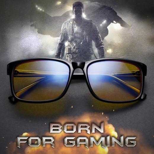 Gaming Glasses – Blue Light Glasses For Computer/Phone – Black – EyeWearShop