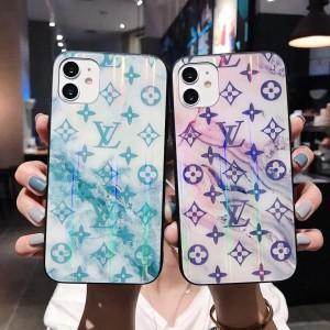 オシャレ LV アイフォン 12/11Pro Maxケース ガラス モノグラム ルイヴィトン iphone 11Pro/11カバー   ...