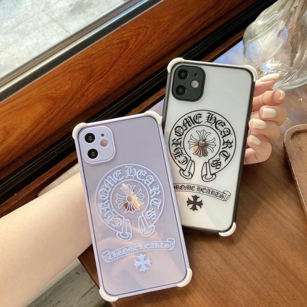 クロムハーツ iPhone12/12 Maxケース 透明ケース CHROME HEARTS iPhone12pro/12pro maxケース