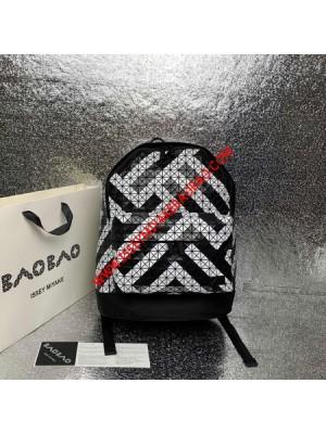 Issey Miyake Kuro Daypack Stripe Backpack Black/White Outlet Bao Bao Issey Miyake Cheap Sale Store