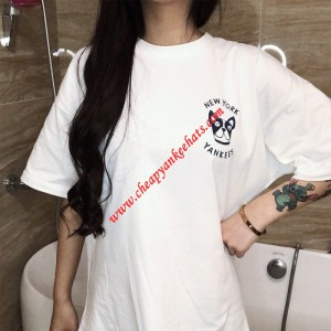 MLB NY Bark Logo Short Sleeve T-shirt New York Yankees White Outlet New York Yankees Cheap Sale  ...