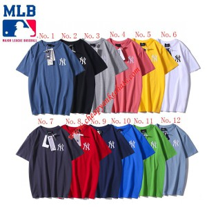 MLB NY Embroidery Printing Short Sleeve T-shirt New York Yankees Outlet New York Yankees Cheap S ...