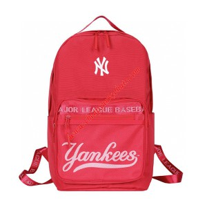 MLB NY Team Logo Backpack New York Yankees Red Outlet New York Yankees Cheap Sale Store