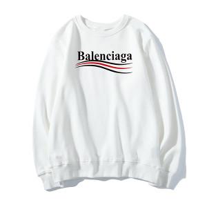 Balenciaga トレーナー薄手 無地 レディース メンズ向けバレンシアガ パーカー丸首 プルパーカーカジュ ...
