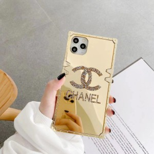 ブランド CHANEL アイフォン12/12Pro Maxケース 鏡面 シャネル iphone 12Pro/12マックスカバー 四角型  ...