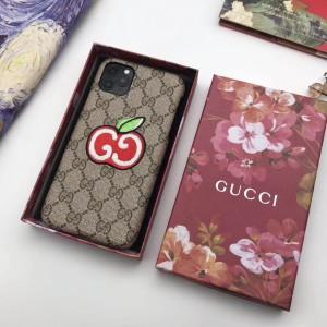 GGアップル グッチ iPhone 12/12Pro Maxケース 可愛い 刺繍 GUCCI IPHONE 12Pro/12 max携帯カバー  htt ...