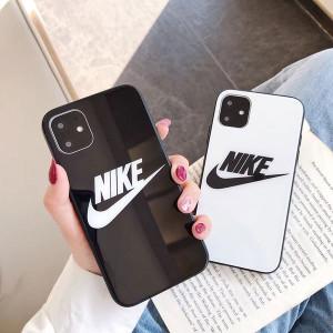 アディダス ナイキ iphone 12/12proケース 鏡面デザイン ブランド iphone12 pro maxペアスマホケースht ...