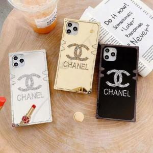 CHANEL iPhone12/12 MAXケース シャネル アイフォン12プロ/12pro maxケース キラキラ 四角型 http://ip ...