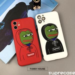 シュプリーム カエルのペペ iPhone12/12pro maxケース ペアお揃い Supreme iphone12proカバー 可愛い  ...