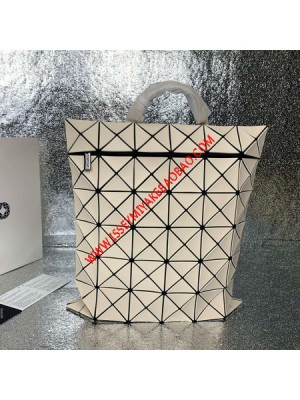 Issey Miyake Lucent Flat Pack Large Backpack Beige Outlet Bao Bao Issey Miyake Cheap Sale Store