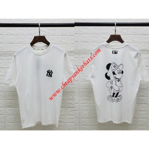 MLB X Disney Short Sleeve T-shirt New York Yankees White Outlet New York Yankees Cheap Sale Store