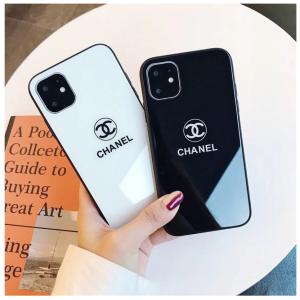 背面ガラスシャネルブランド iPhone12 pro/12 pro max 12 mini/12ケースペア 黒白 鏡面加工 https:// ...