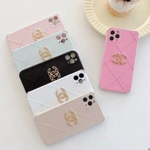 CCマーク Chanel iPhone 12Pro/12pro maxケース 刺繍ログ シャネル iPhone 12/12miniケース レディス   ...