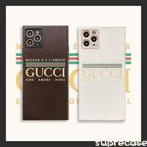 グッチ iPhone12 ケース iPhone12pro iPhone12mini iPhone12Pro Max スクエア カバー ブラント GUCCI i ...
