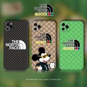 グッチ ノースフェイス ミッキーコラボ iphone12pro maxケース アイフォン12/12プロケース GUCCI THE N ...