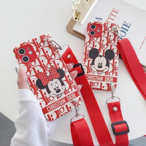 Dior mickey コラボiphone12/12miniケース ストラップ付き https://komostyle.com/goods-dior-mickey-i ...