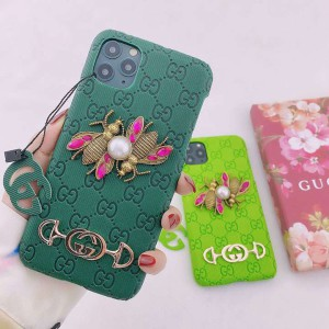 iPhone12Mini 12ケース Gucci 大人の雰囲気 グッチ携帯ケース iphone12pro/12pro max ハチ柄 iphone11  ...