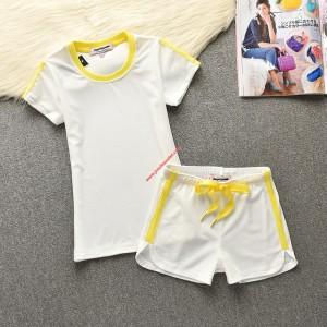 Juicy Couture Original Stripes Velour Tracksuit 653 2pcs Women Suits White