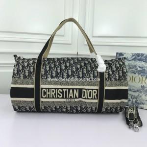 Christian Dior Bowling Bag Oblique Jacquard Blue